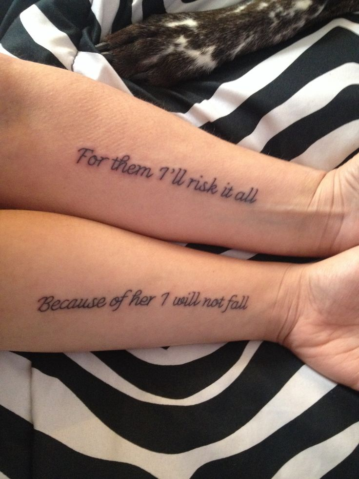 Mother and Daughter Tattoos/pinterest