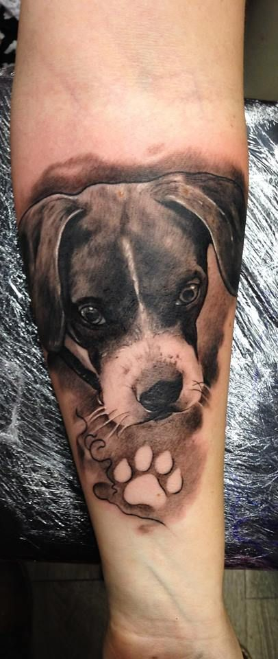 A Lovely Dog Tattoo