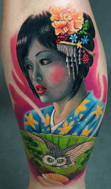 A Traditional Japanese Girl