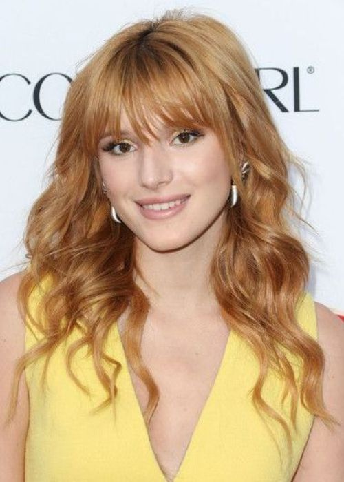 Apricot Red Loose Curly Hairstyle