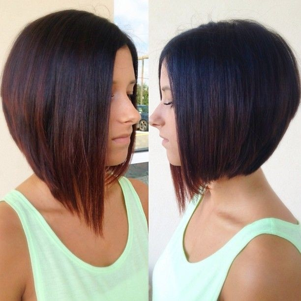 Asymmetrical Bob Hairstyle For Women Tumblr Haircuts