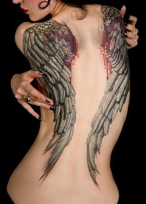 Beautiful Angel Wings on Back