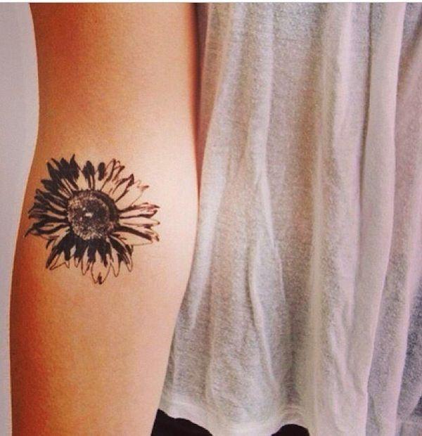 Beautiful Arm Daisy Tattoo