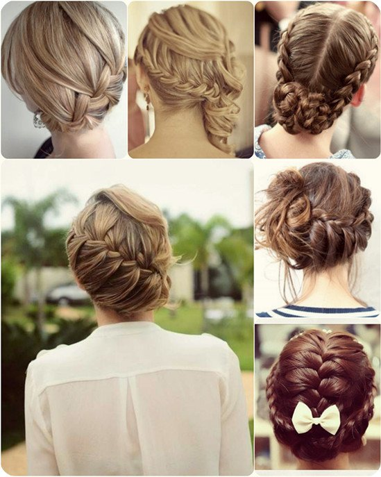 Beautiful Braided Updo Hairstyle for Christmas