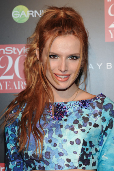 Bella Thorne Messy Ponytail
