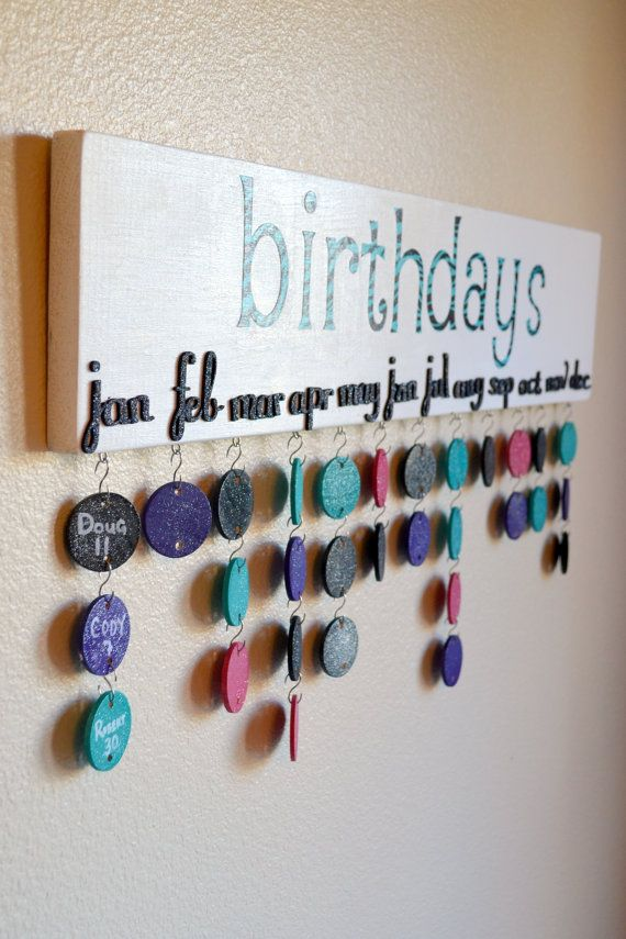 Diy Birthday Calendar : Diy wall art ideas for your home pretty designs