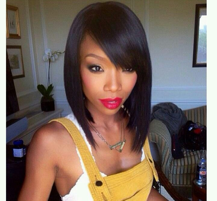 Black Bob Hairstyle With Bangs