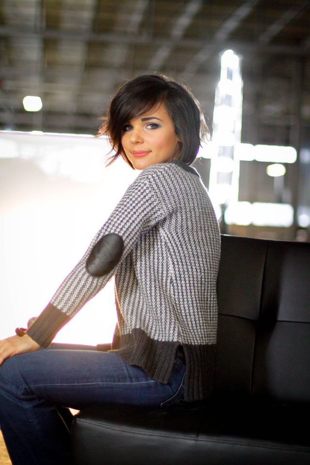 Black Bob Hairstyle With Side Bangs