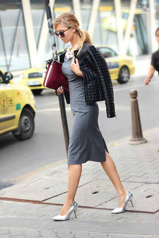Grey Sweater Dress Outfit