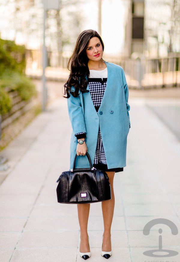 Blue Coat Outfit for Winter