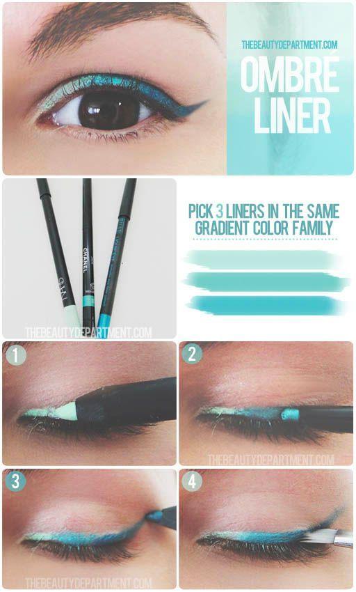 Blue Ombre Eyeliner