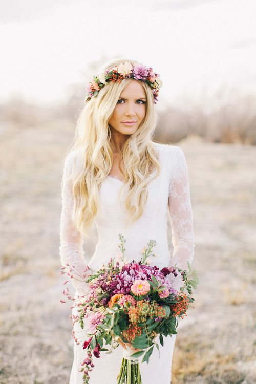 Gorgeous Floral Crown Hairstyle Ideas for Romantic Brides ...