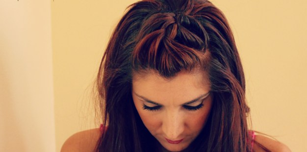 Braided Crown Hairstyle with Bobby Pins