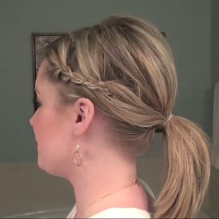 Braided Ponytail Hairstyle with Bobby Pins