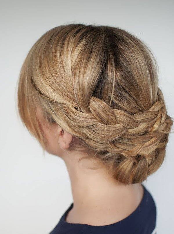 Braided Updo Hairstyle for Thick Hair