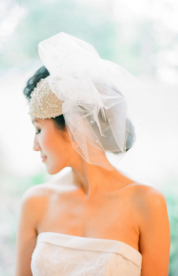 Bridal Fascinator with Veil