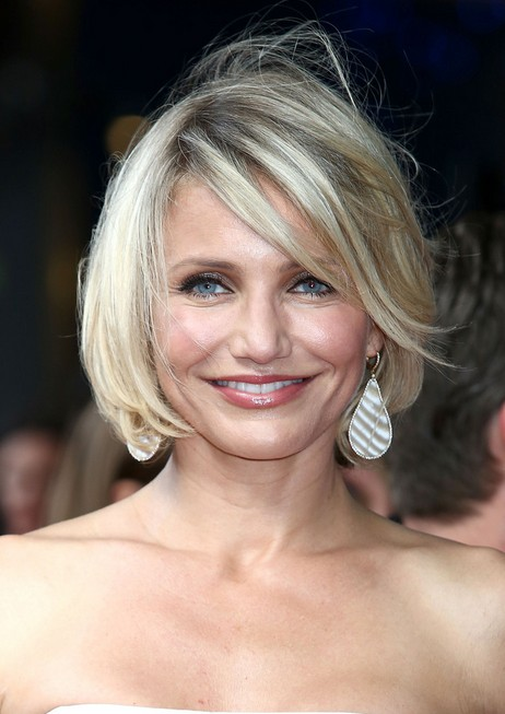 Cameron Diaz Short Layered Bob Hairstyle for Women