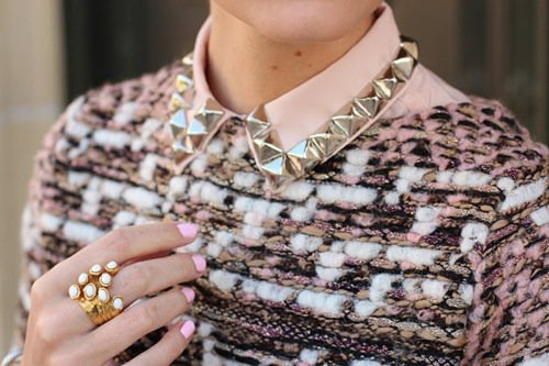 Chic DIY Studs Embellished Collar