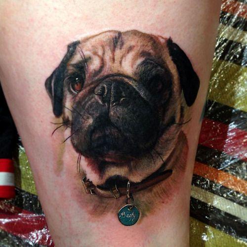Chic Dog Tattoo