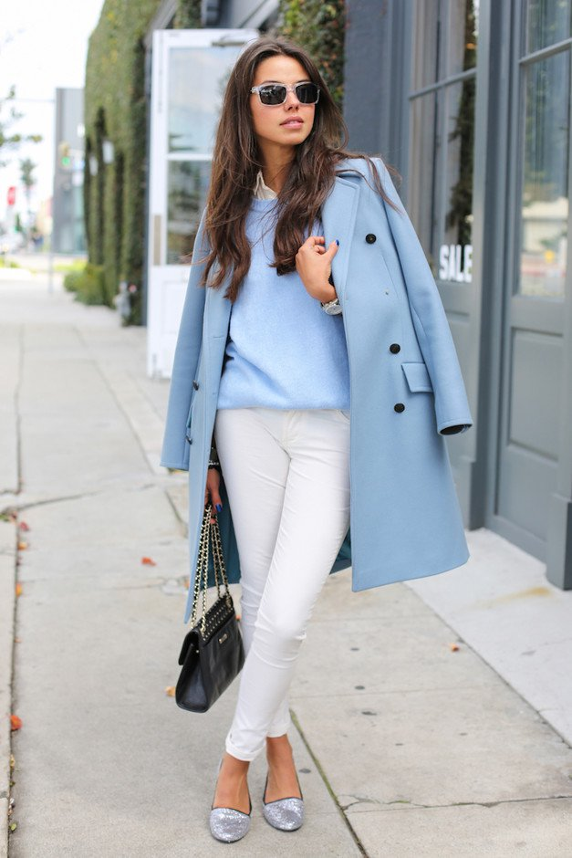 Chic Outfit Idea with Blue Coat