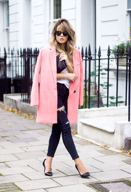 Chic Outfit Idea with Winter Coat