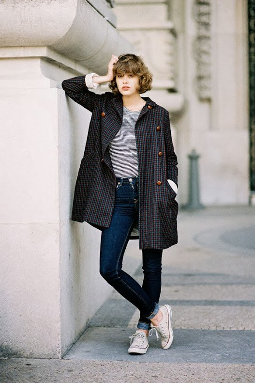 Chic Plaid Winter Coat Outfit for 2015