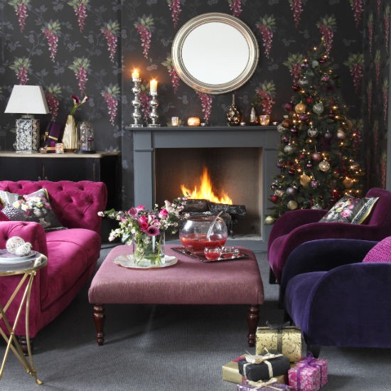 Home decoration how to make a christmas living room for Salon xmas decorations