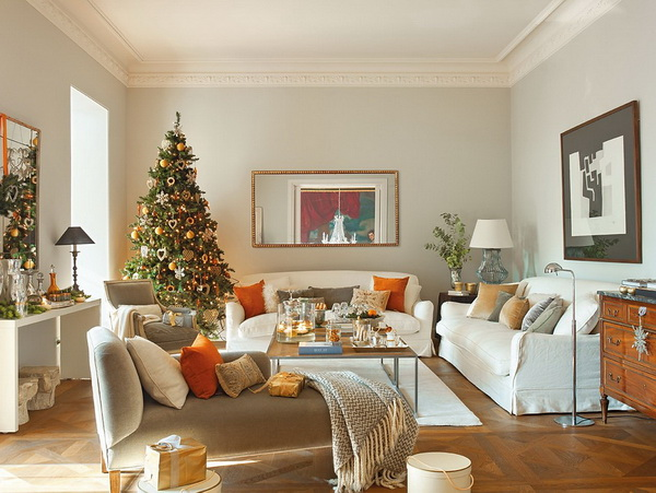 Home Christmas Decorations home decoration: how to make a christmas living room - pretty designs