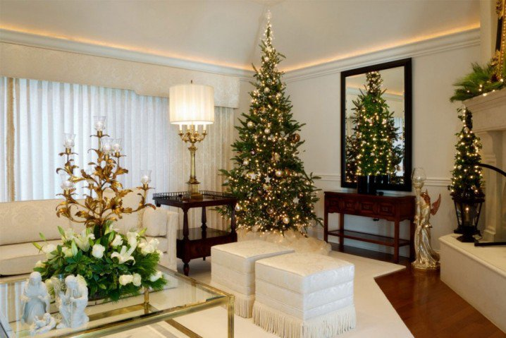 Living Room Christmas Decorating Ideas home decoration: how to make a christmas living room - pretty designs