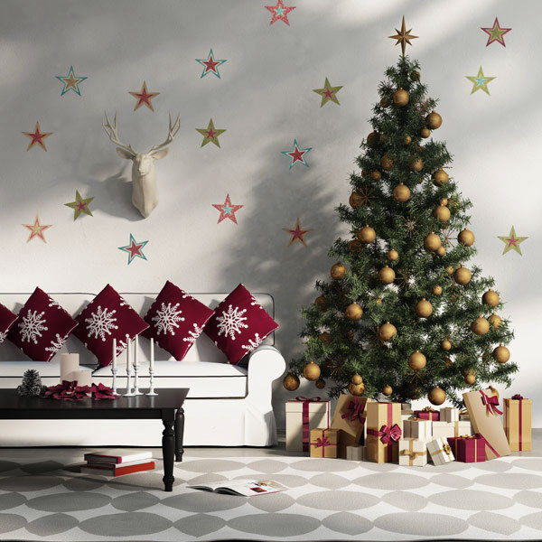Home decoration how to make a christmas living room for Christmas interior house decorations