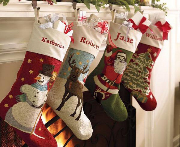 christmas stocking designs pretty stockings - Christmas Socks Decoration