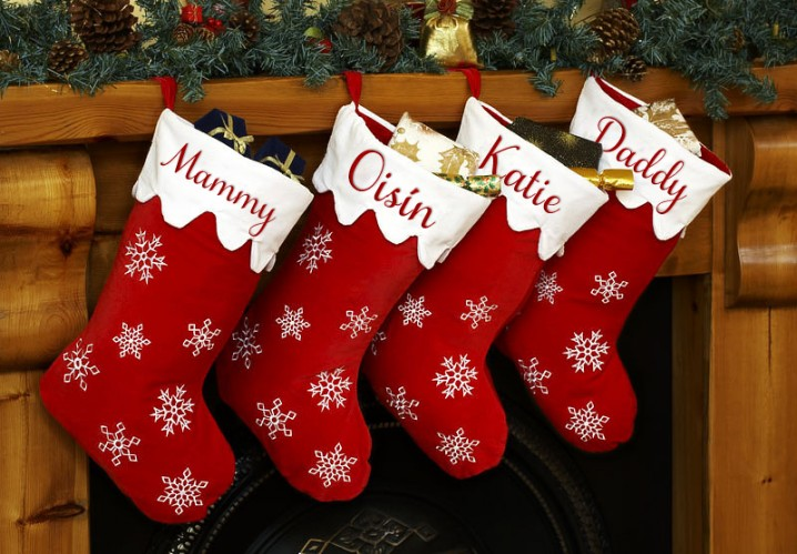 christmas stocking designs red stockings - Decorating Christmas Stockings