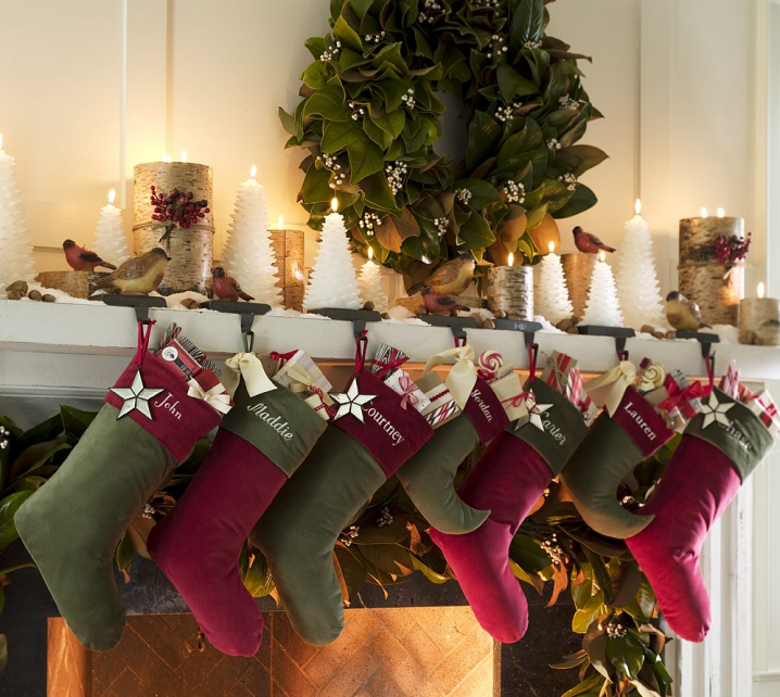 Christmas Stocking Designs-Red and Green Stockings