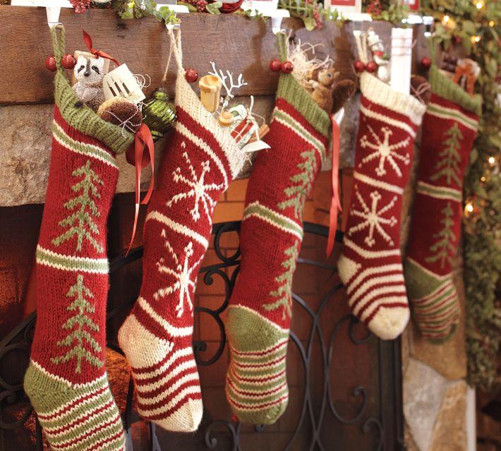 Christmas Stocking Designs-Woven Stockings