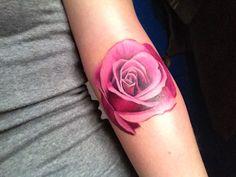 Colored Rose Tattoo