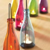 Colorful Bottle Candle Holder