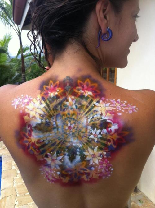 Colorful Floral Tattoo