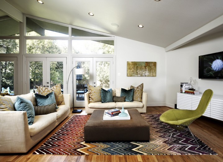 Colorful Zig-zag Carpet