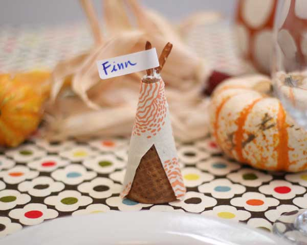 Cone Place Card Holder