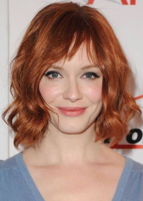 Copper Red Short Wavy Haircut