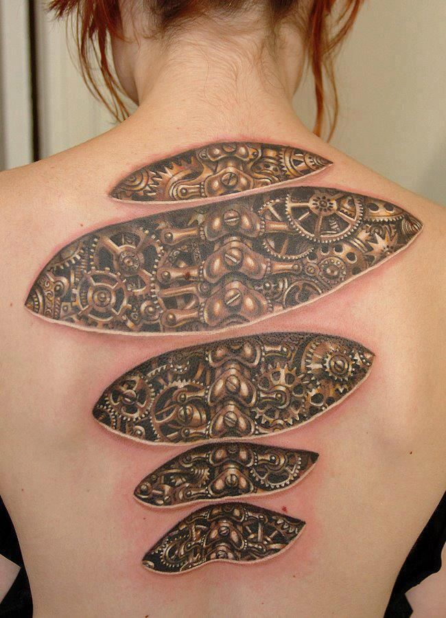 tattoo tattoos creepy pretty designs cool tatto spine tatoo really under idea pattern via down female leg would
