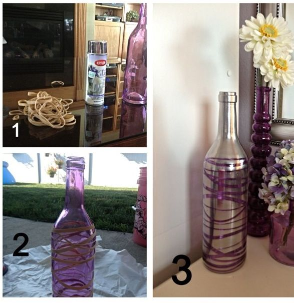DIY Purple Vase