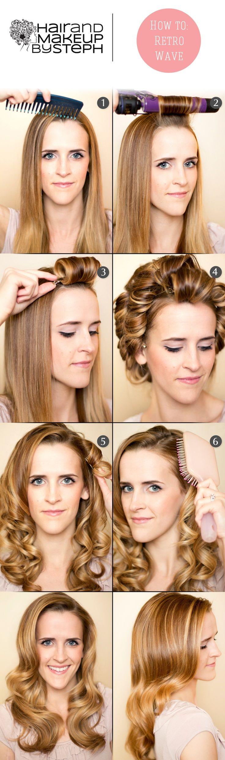 20 stylish retro wavy hairstyle tutorials and hair looks - pretty