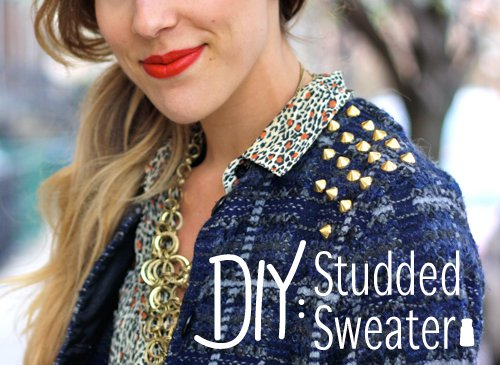 DIY Studded Sweater