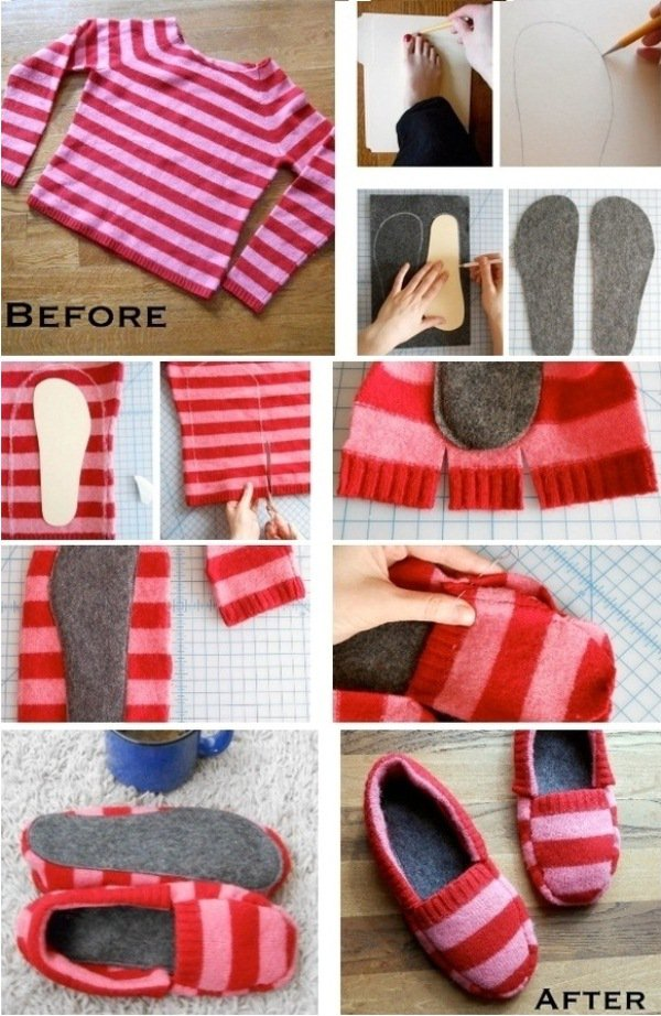 DIY Warm Shoes
