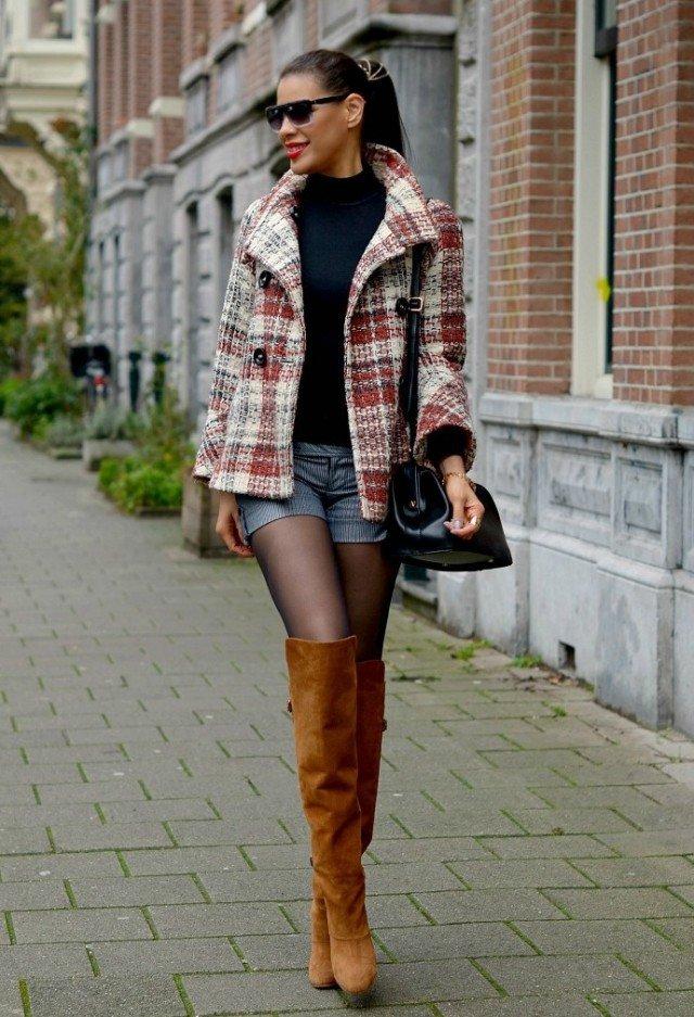 Dark Brown Tartan Outfit