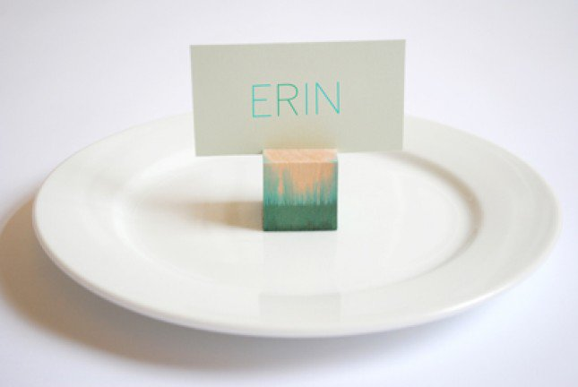 Dip-dyed Place Card Holder
