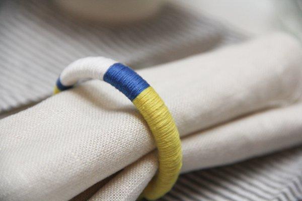 Easy Colorblock Napkin Rings