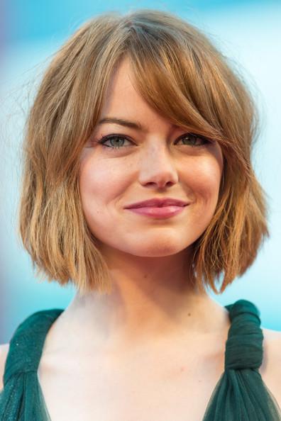 Emma Stone Tousled Bob Hairstyle