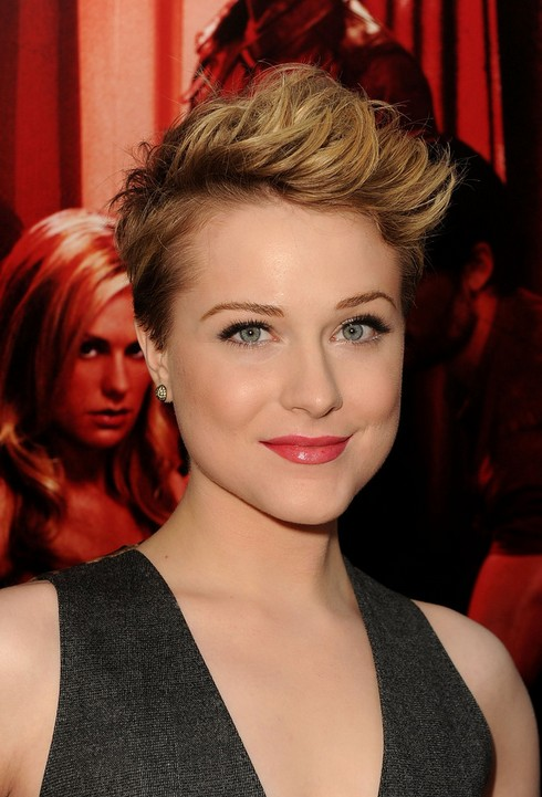 Evan Rachel Wood Pixie Cut for Short Hair